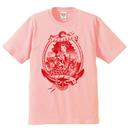 YAMATERAS 'OIRAN-NINGYO'  T shirt 6.2oz ( Pink , 白×青, 白×赤 )