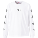 YAMATERAS / Country Code Long Sleeve T-Shirt 7.1 Oz  / WHITE