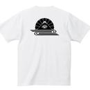 YAMATERAS / 菊水バックプリントTシャツ 7.1oz スーパーヘヴィウェイト仕様 白