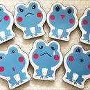 数量限定‼日本製ヘアーアクセサリー 髪ピタ(Kamipita) 蛙シリーズ 色々な表情の蛙