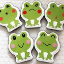 数量限定‼日本製ヘアーアクセサリー 髪ピタ(Kamipita) 蛙シリーズ 色々な表情の蛙  のコピー