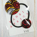 アフリカ布ダブルヘアゴム♪
