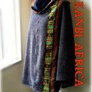アフリカ布フリーサイズポンチョ♪