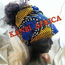 アフリカ布リバーシブル帽子ターバン♪
