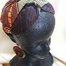 アフリカ布フリーサイズクロスカチューム♪