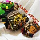 アフリカ布がま口コインケース
