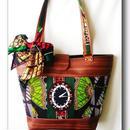 アフリカ布stocker  bag