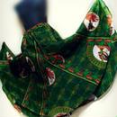 62  アフリカ布スーパーフレアロングスカート