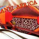 アフリカ布ショルダーアコーディオンポーチ♪