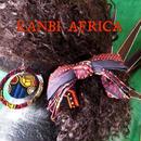 アフリカ布3段リボンヘアゴム♪