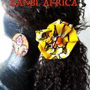 アフリカ布フラワ―リボンヘアゴム♪