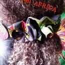 アフリカ布ダブルシュシュ♪