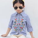 ストライプ刺繍シャツ