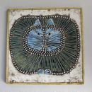 UNIK  Kat  ユニークシリーズ  丸猫の陶板  ブルー
