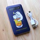 モバイルバッテリー ビール大好き
