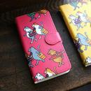 スマホケース 猫たち行進(ピンク)