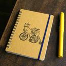 4月始まりスケジュール付リングノート(A6)自転車でいこう(イエロー)