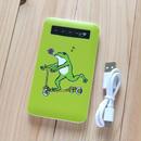 モバイルバッテリー カエルコースター(グリーン)