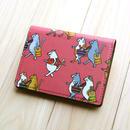 名刺・カードケース 猫たちお買い物(ピンク)