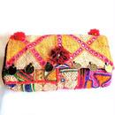 Banjara 2wayクラッチバッグ 1点物《bjc8》zariミラーワーク刺繍ヴィンテージテキスタイル