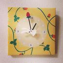 ☆SALE☆ファブリックパネル時計『いちごモグモグ♪シロウサギ』