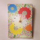 ☆SALE☆ファブリックパネル時計『おしゃべりな花園』