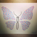 原画「蝶のはばたき」(額入り)