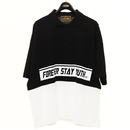 LAYERED BIG POLO SHIRTS(BLACK)