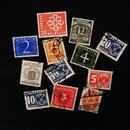 ドイツのおじいさんが収集していた古切手(10) 数字と模様