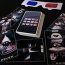赤青3Dおばけカードセット