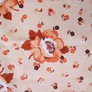 ヨーロッパビンテージ布はぎれ  (オレンジ花柄)