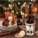 タワー チョコレートファウンテン 機械 業務用 4層 チョコレートフォンデュ 家庭用