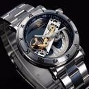 トゥールビヨン 機械式腕時計 スケルトン