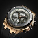 TORBOLLO メンズ クォーツ腕時計 クロノグラフ 防水 ラバーバンド