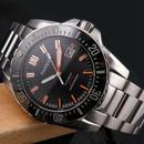 Parnis  ダイバー腕時計  防水200メートル  ブラックダイヤル