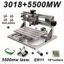 【スピンドルモーター】レーザー彫刻機 5500mwレーザー withER11 cnc3018 pcb pvcフライス盤 木製ルーター DIY道具 加工機