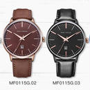 Minifocus メンズ腕時計 ブランド 防水 アナログ クォーツ時計 男性 革ベルト カジュアルスポーツ時計
