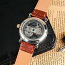 腕時計 メンズ 機械式腕時計 自動巻き クラシック ブラックバンド ホワイトバンド 革バンドSHENHUA