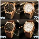 メンズ腕時計 YAZOLEブランド ラグジュアリー 防水 クォーツ シンプルデザイン ブラウン2