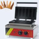 ワッフルメーカー 業務用 ノンスティク 電気ステンレス鋼 6本作成可能