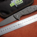 高品質折りたたみナイフ:D2ブレードベアリングTC4ハンドルCNC切削ストーンウォッシュ