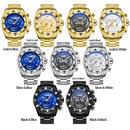 メンズ腕時計 クォーツ ラグジュアリー 海外トップブランド TEMEITE クリエイティブビッグダイヤル フルスチール