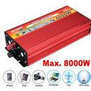 インバーター(赤)連続出力4000W 瞬間最大8000W 入力DC12V 出力AC110V