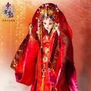 中国人形 キャラクタードール ウェデイング 華やか 花嫁 女の子 お祝い プレゼント ハンドメイド 伝統 文化 歴史 着物【新品】
