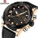 海外ブランド NAVIFORCE メンズ腕時計 ラグジュアリー デジタル レザー スポーツ ミリタリー クォーツ クロノグラフ