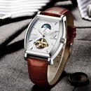 Tevise 自動巻き メンズ腕時計 機械式 防水 ムーンフェイズ本革製 ビジネス 海外人気ブランド