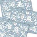 ★ガラス用★【3枚セット】Flower Modern/ホワイト