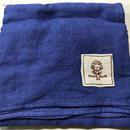 ルンギスカート ブルー (リネン50コットン50)