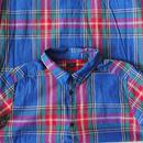 i c h i 180719 Indigo Tartan Check Shirts Dress / Dark