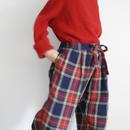 ichiAntiquités 100650 LinenTartan Pants / NAVY